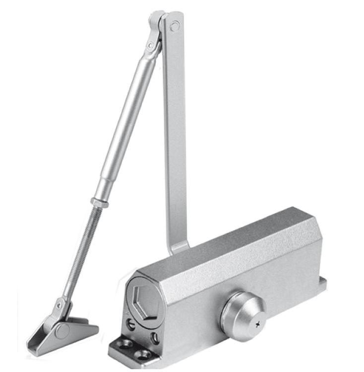 Доводчик дверной DORF до 110 кг серебро