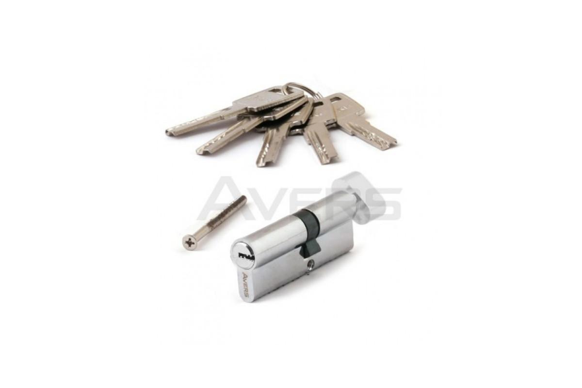 Цилиндровый механизм АВЕРС 90 ключ-вертушка со смещением 40С*50 хром (9132)