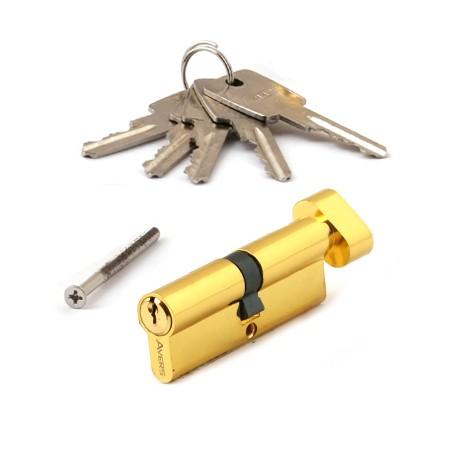 Цилиндровый механизм АВЕРС ZC 80 ключ-вертушка золото (9077)