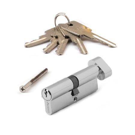 Цилиндровый механизм АВЕРС ZC 80 ключ-вертушка хром (9108)