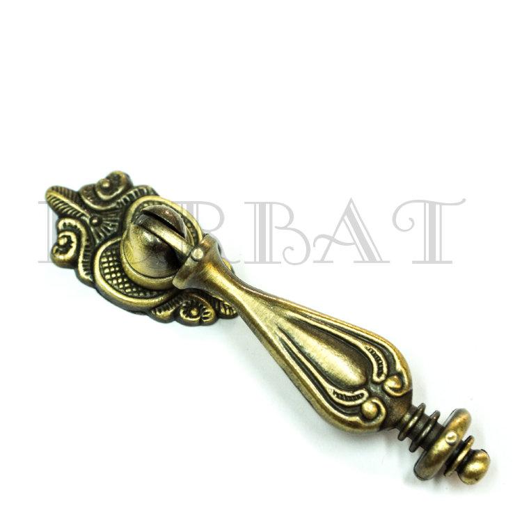Мебельная ручка кнопка 2561 бронза (9726)