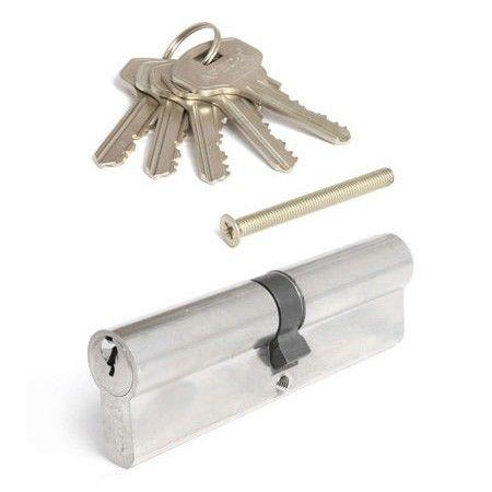 Цилиндровый механизм Апекс 100 SC ключ-ключ хром (5545)