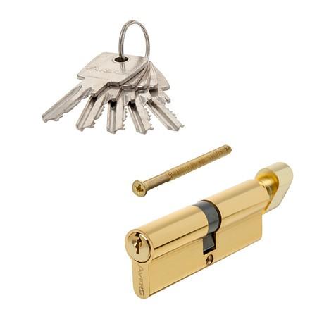 Цилиндровый механизм АВЕРС 90 ключ-вертушка золото (9078)