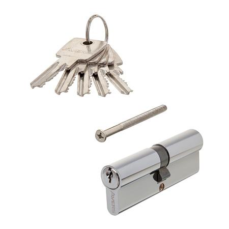 Цилиндровый механизм АВЕРС 90 ключ-ключ хром (9734)