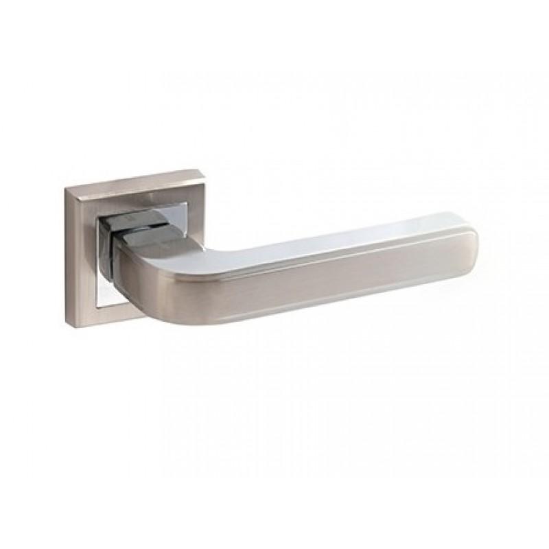 Ручка дверная раздельная АВЕРС 18106 никель (9099)