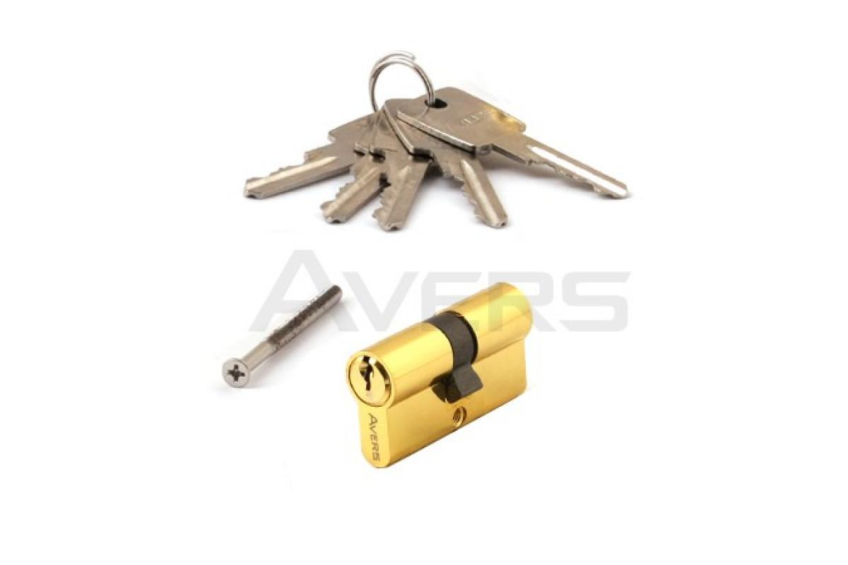 Цилиндровый механизм АВЕРС ZC 60 ключ-ключ золото (9930)