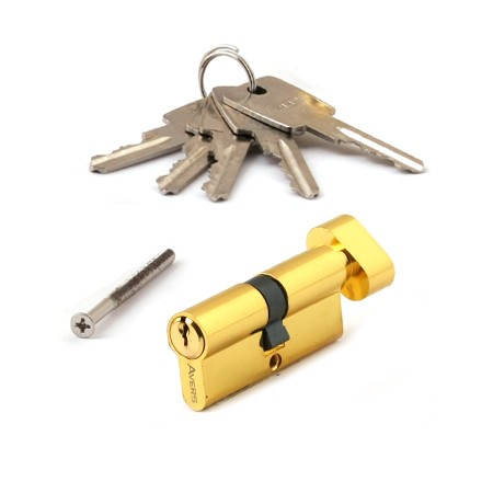 Цилиндровый механизм АВЕРС ZC 70 ключ-вертушка золото (9076)