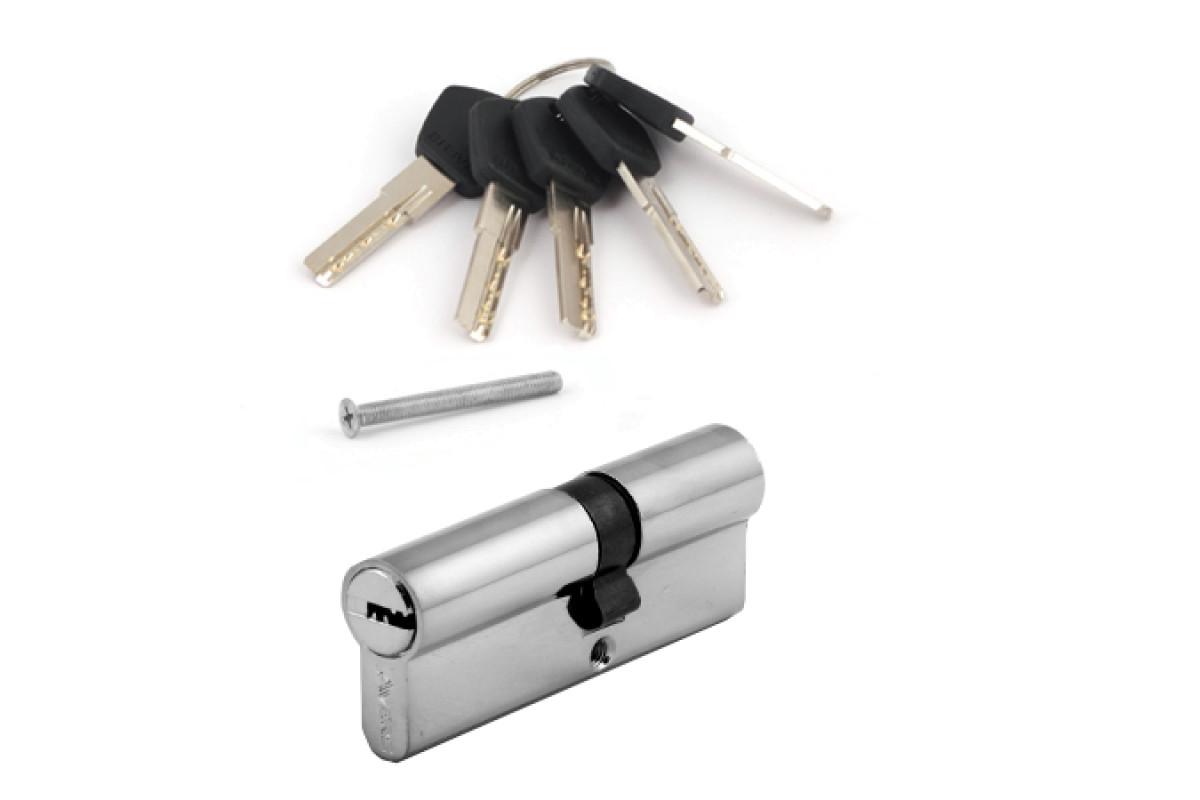 Цилиндровый механизм АВЕРС 80 со смещением 35*45 ключ-ключ хром (9950)