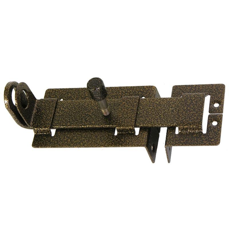 Задвижка дверная ЗД-04(бронза) с проушиной (3873)