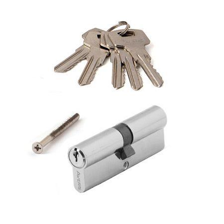 Цилиндровый механизм АВЕРС ZC 80 ключ-ключ хром (9449)