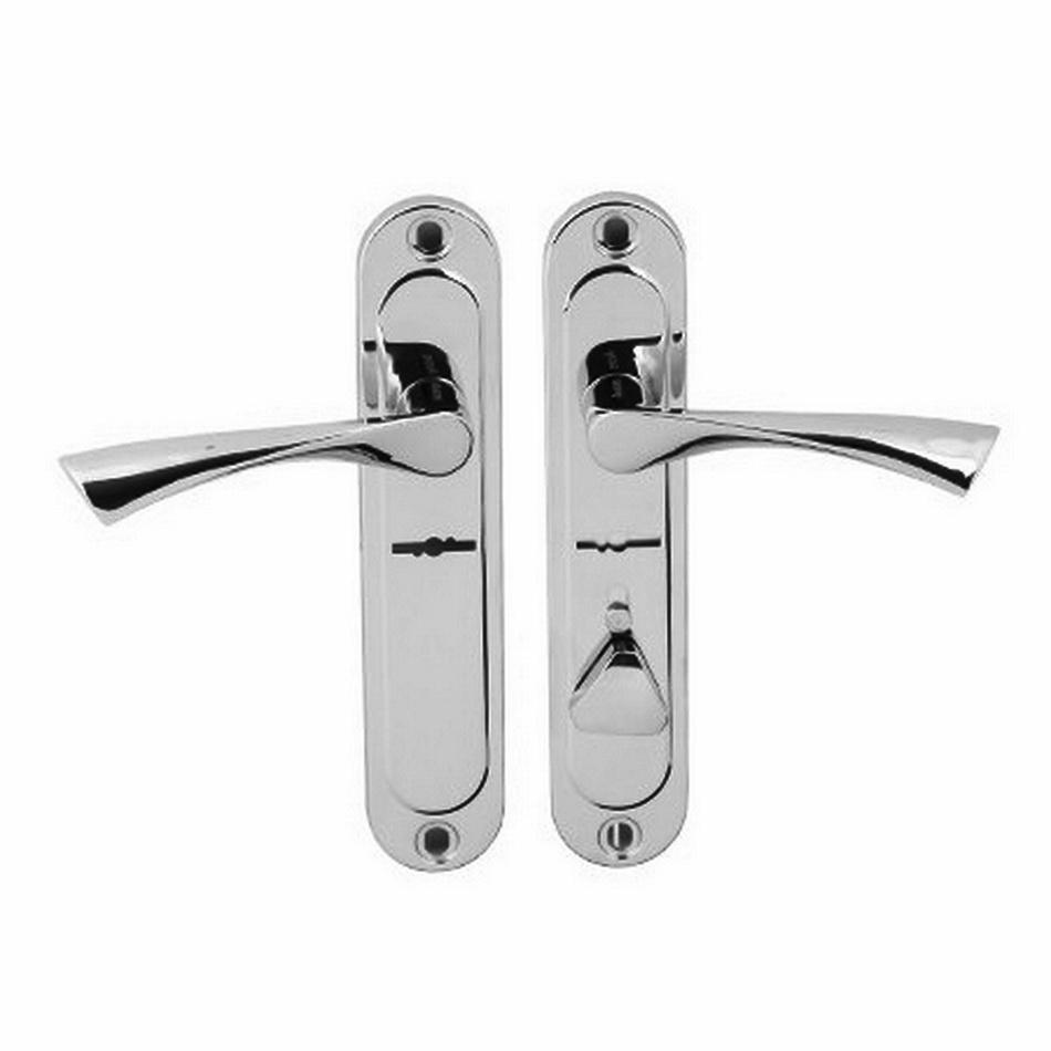 Ручка дверная на планке АВЕРС 42.0123 хром левая (9382),правая (9383)