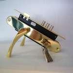 Замок SET 9011 PB (золото, хром, бронза) 6кл. цилиндр 85 мм. 2-011