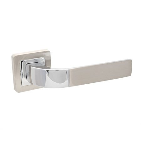 Ручка дверная раздельная CODE DECO H-22104 никель (10109)