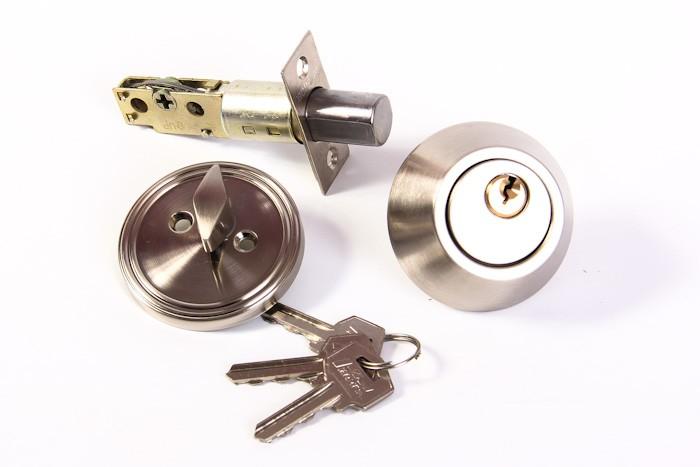 Замок врезной D 1 хром ключ-фиксатор (4439)