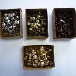 Гвозди мебельные 1,5х20 бронза (5567), золото (5568), медь (5571), хром (5572) (100шт.)