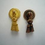 Мебельная ручка кнопка STRONG KL-44 золото, медь