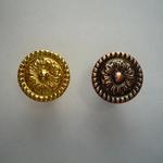 Мебельная ручка кнопка STRONG KL-348  медь, золото