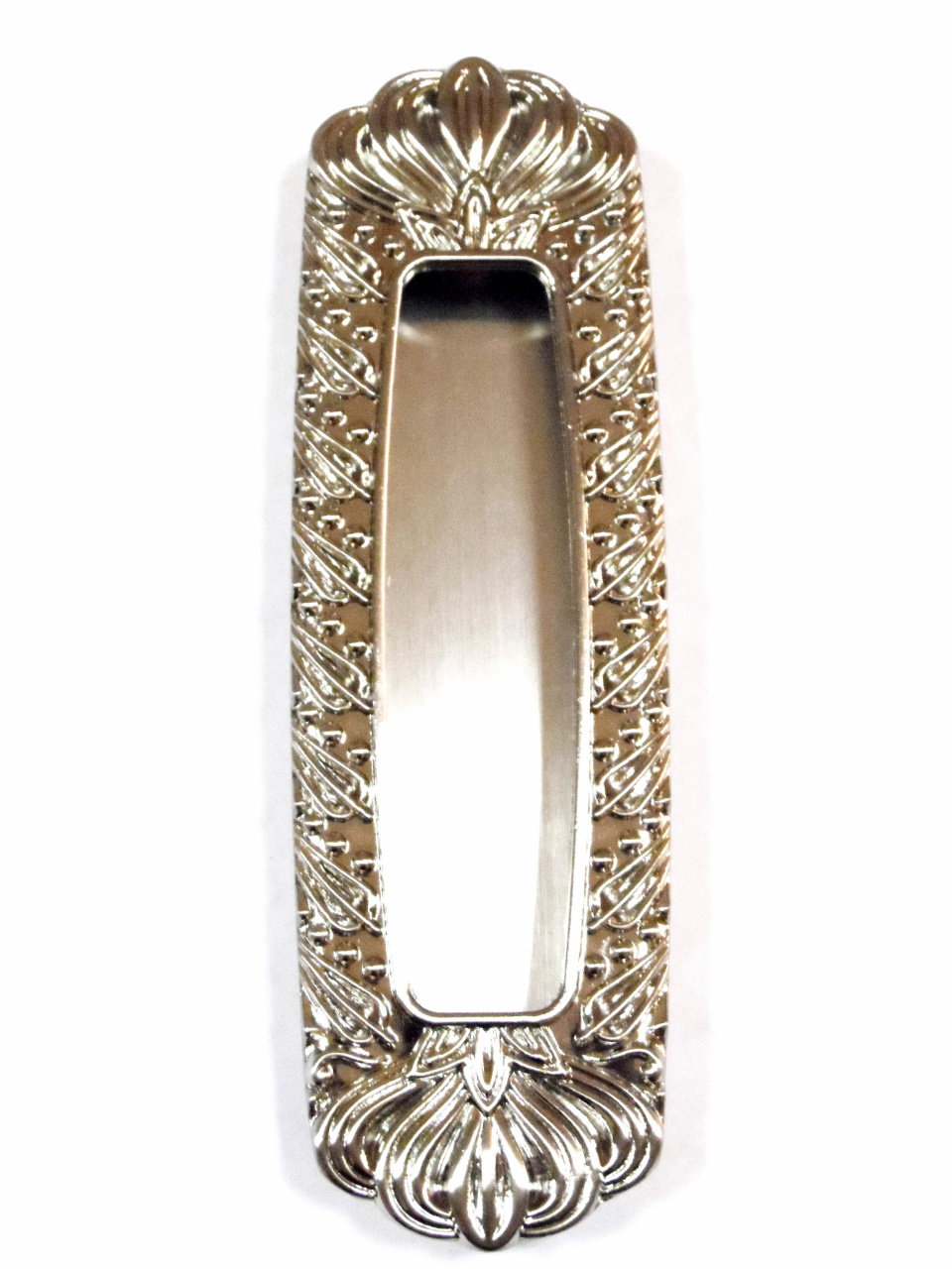 Ручка для дверей купе 655 никель СИРИУС (7602)