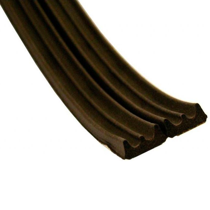 Уплотнитель Е150 самоклеящийся  резиновый 9*4 мм коричневый REMONTIX (7072)