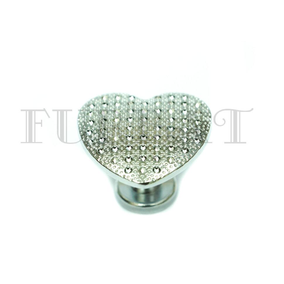Мебельная ручка кнопка 21240 хром  (9413)