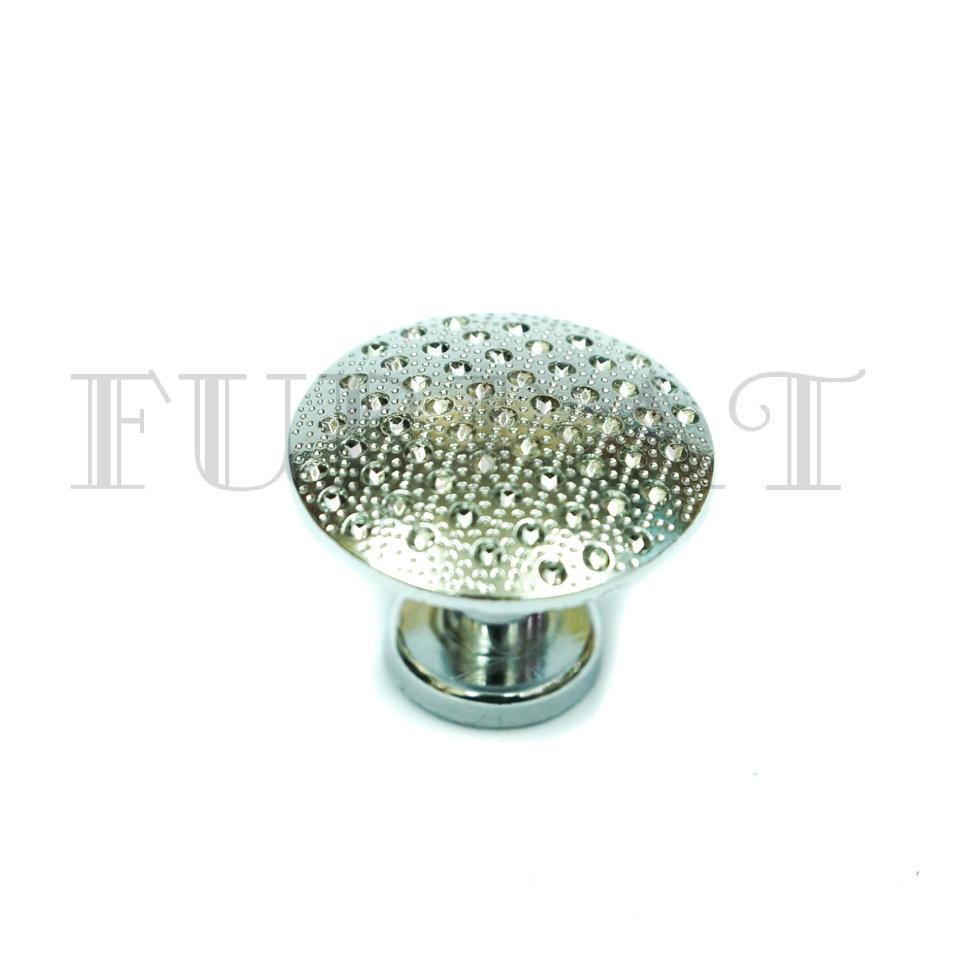 Мебельная ручка кнопка 21236 хром  (9412)