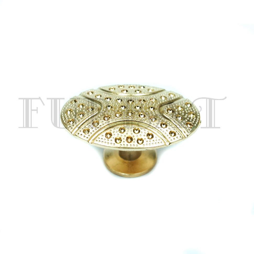 Мебельная ручка кнопка 2224 золото (9514)