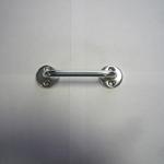 Ручка-скоба Кунгур  80-3 анод.цинк, белая