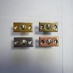 Шариковый фиксатор дверной бронза, золото, медь, хром.