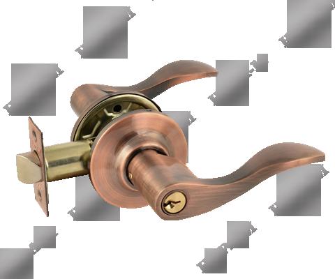 Защелка межкомнатная  ЗВ1-01, ключ-фиксатор медь (10257)