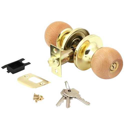 Защелка АВЕРС 6072-01 золото-светлое дерево ключ-фиксатор (10225)