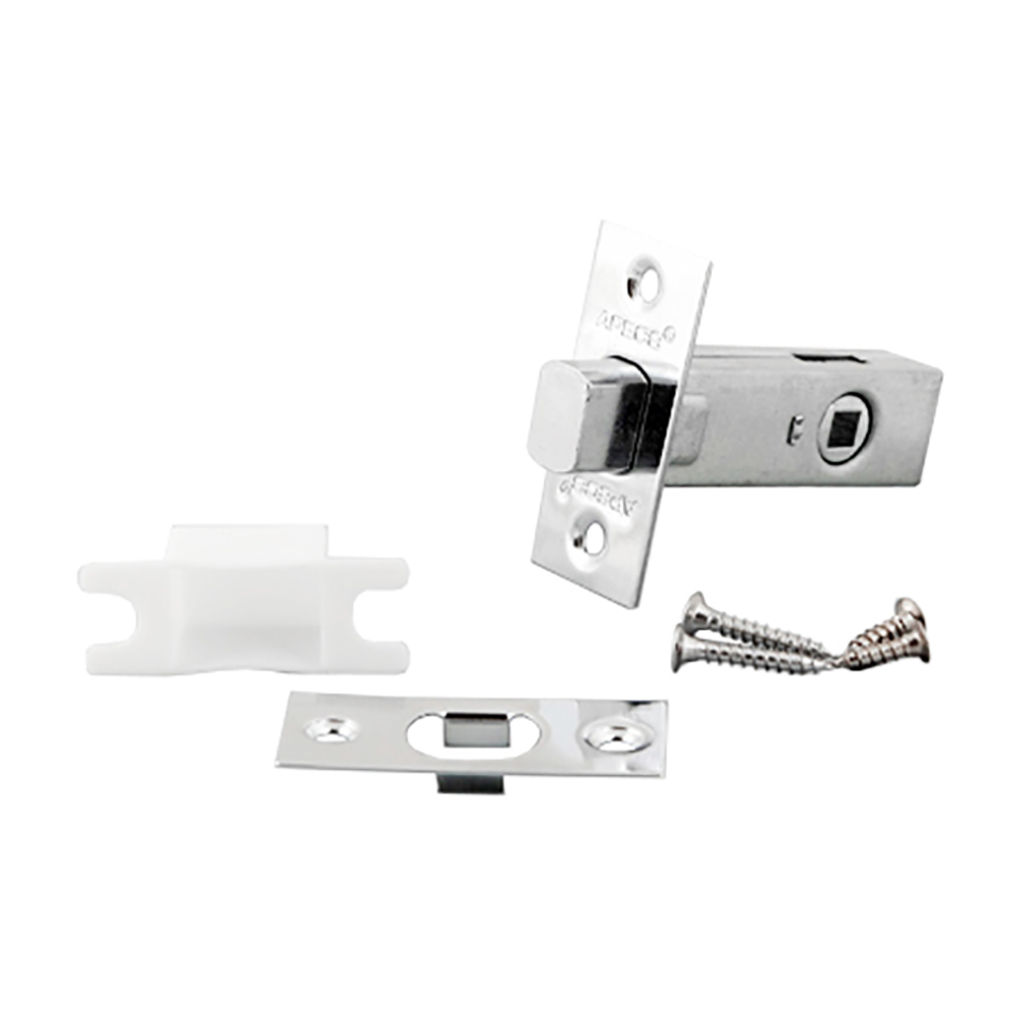 Задвижка дверная Apecs L-0126-хром (10204)