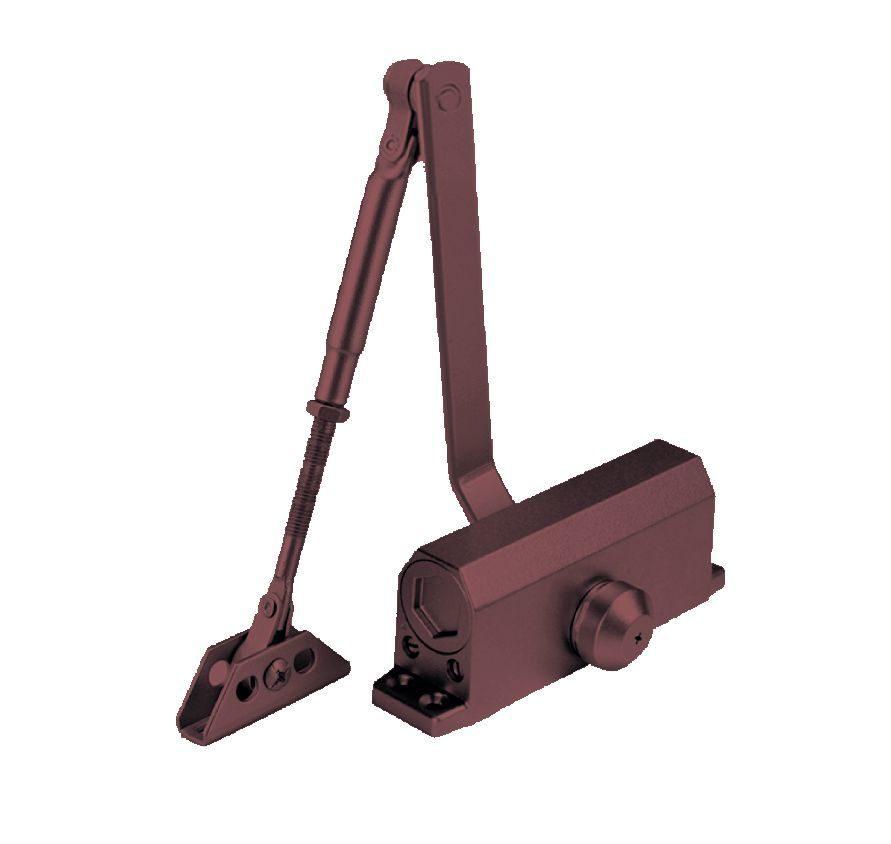 Доводчик дверной DORF до 110 кг коричневый (9970)