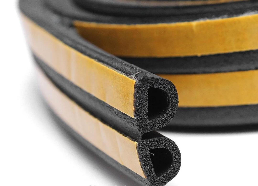 Уплотнитель D120 самоклеящийся  резиновый 14*12 мм черный REMONTIX (7069)
