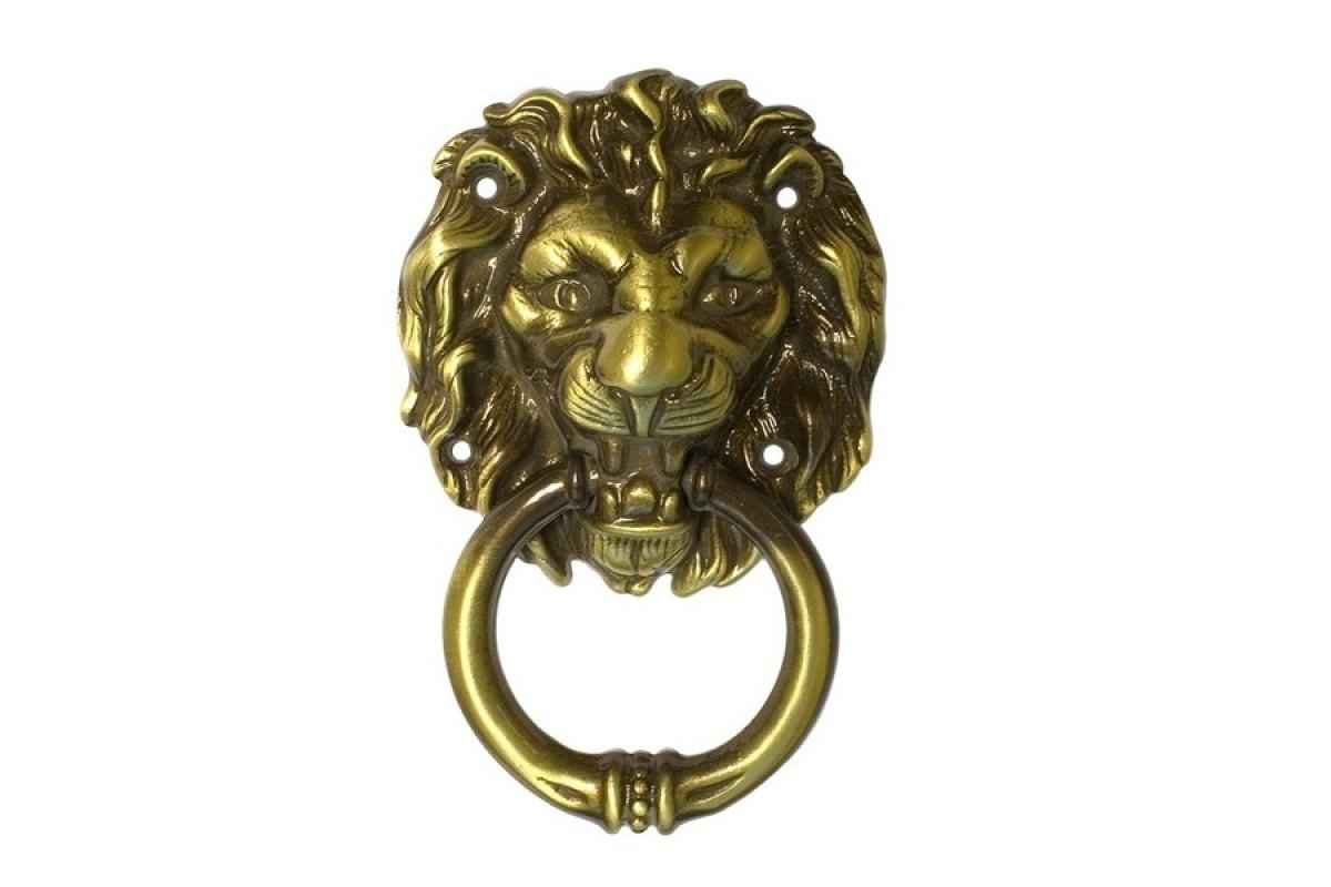 Дверной молоток бронза (кнокер Лев) (8416)