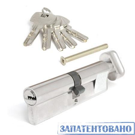 Цилиндровый механизм Апекс 100 SМ ключ-вертушка хром перфорация (5546)