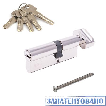 Цилиндровый механизм АВЕРС ZM 80 со смещением 35*45С ключ-вертушка хром (9581)