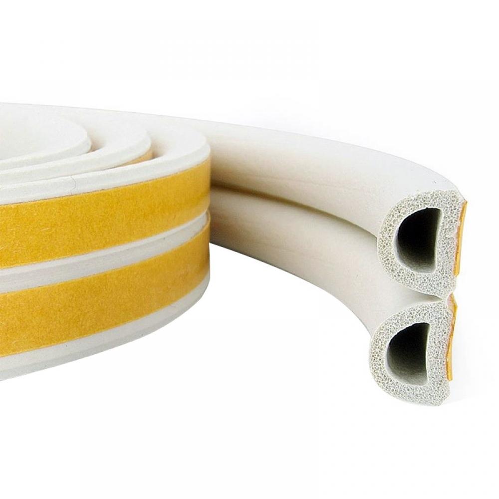 Уплотнитель D100 самоклеящийся  резиновый 9*8 мм белый REMONTIX (7066)