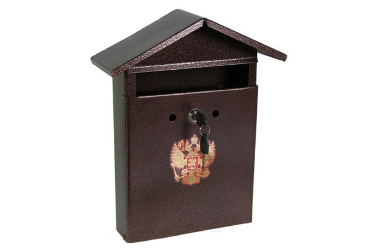 Ящик почтовый Домик-Элит , металлический с замком (9061)