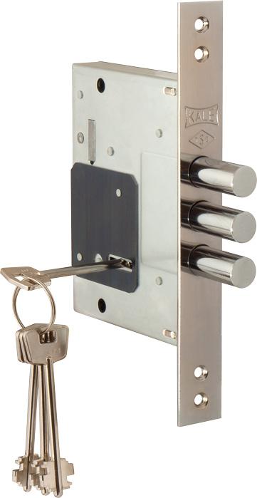 Замок врезной ЗВ 257 / L  никель, 4 ключа (9915)