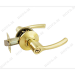 Защелка межкомнатная  ТТ1-01 золото, ключ/фиксатор (6326)